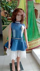 Baby Girls Jeans Gown