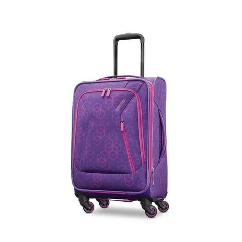 d1d579764 American Tourister Sonic Rolling Tote Luggage Bag (Purple Print ...