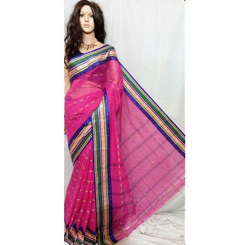 a3c112c90d Cotton Pink Tangail Tant Saree, Rs 550 /piece, Pal Sarees | ID ...