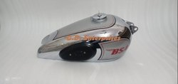 Bsa M20 Silver Painted Chrome Fuel Gas Petrol Tank Civil Model With Cap And Knee Pads