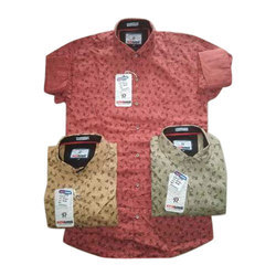 Cotton Printed Half Sleeves Party Wear Shirts