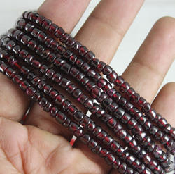 Garnet Smooth Tyre Shape Beads