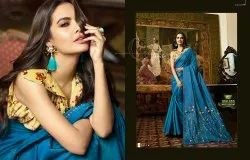 Printed Shaily Retails Partywear Sarees, With blouse piece, 5.5 m (separate blouse piece)