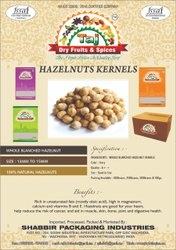 Hazelnuts, Packaging Type: Pouch