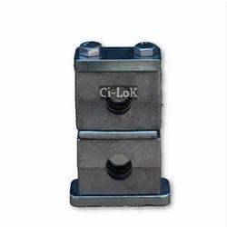 Aluminium Vertical Double Pipe Clamp