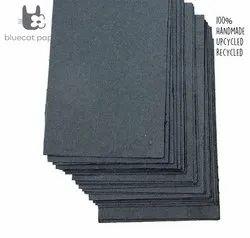 Handmade Paper, Fine-Cut, A4 Size - Dark Grey