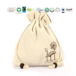 Natural Recycle Organic Cotton Pouch Bag