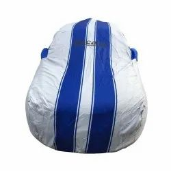 Woven Polyester Blue And White Maruti Suzuki Baleno Custom Fit Car Cover