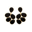 Hot Black Onyx Beautiful Handmade New Marcielo Earring Gold Plated Model Jewelry
