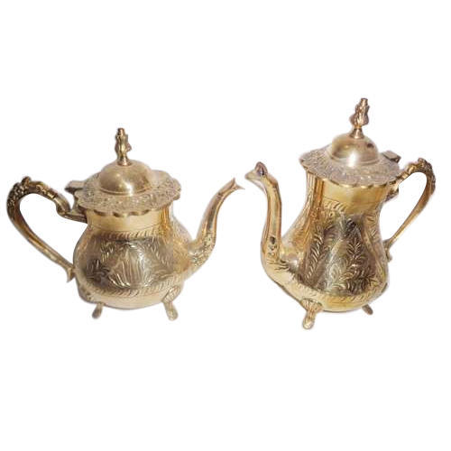 Stylish Brass Tea Pot Set