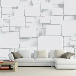 Decorative White Korian 3D Wall Panel