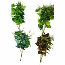Red, Green Artificial Plants Deorative ONEB-M-006 Artificial Green Bush, for Home/Office