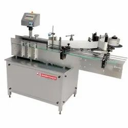 Round Sanitizer Bottle Labeling Machine