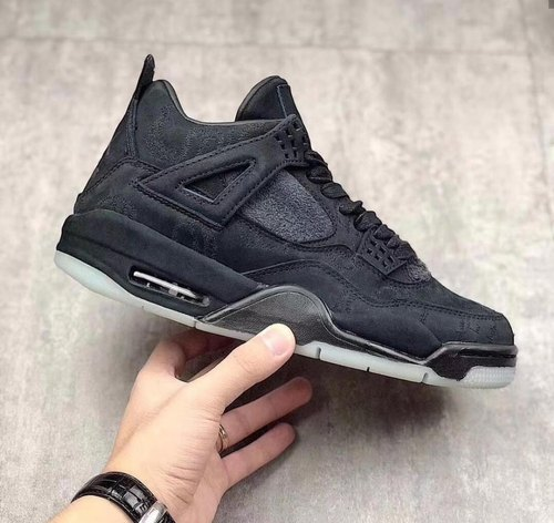 online store 7da7b 2605f Jordan Kaws 4 Black