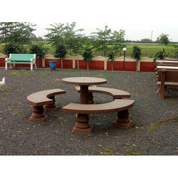 Cement Bench and Table