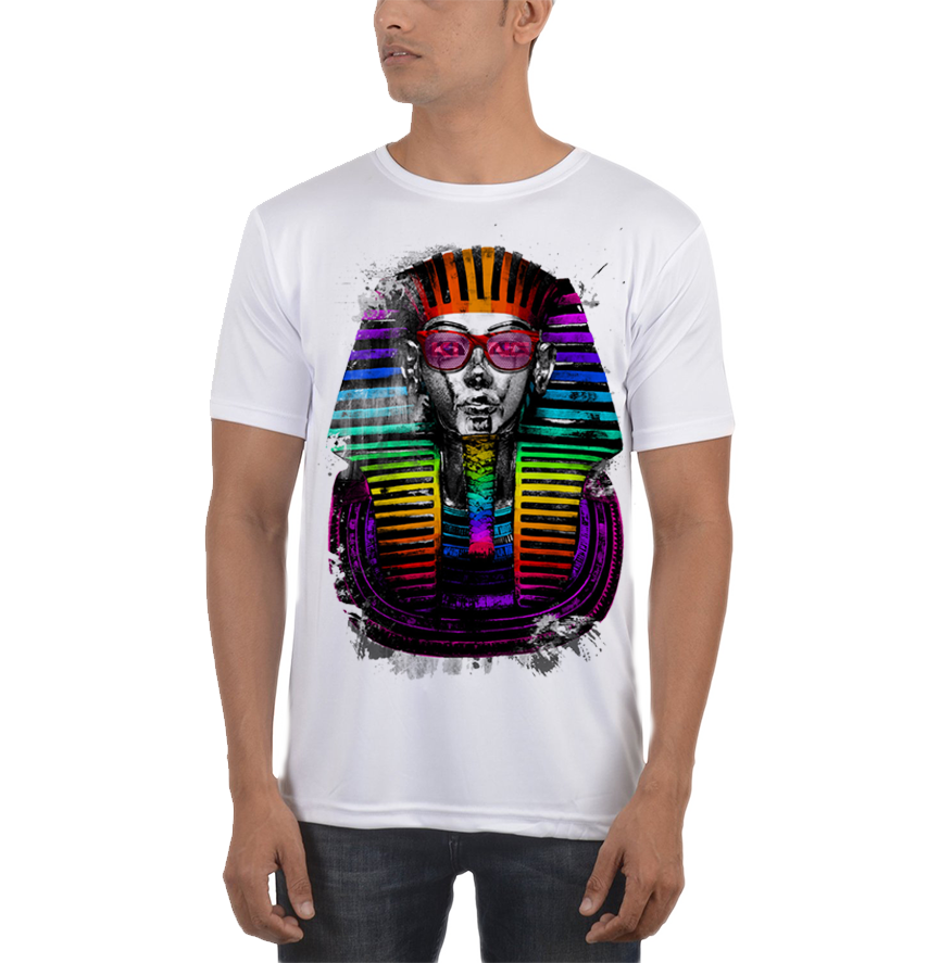 SKELETON Halloween COSTUME 2-Sided Sublimated All Over Print Poly Cotton T-Shirt