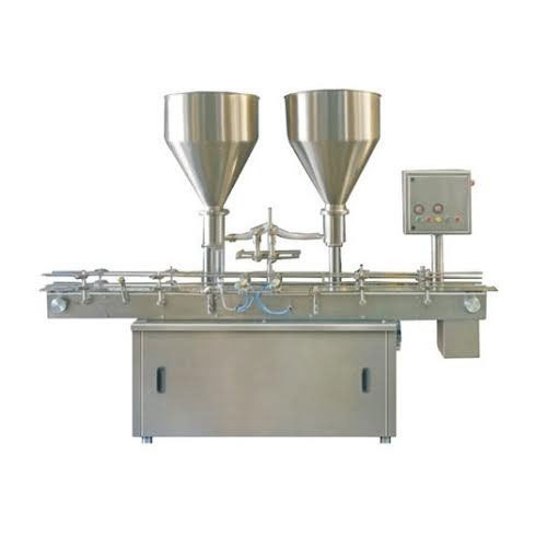 Stainless Steel Geoenix Automatic Paste Filling Machine, Capacity: 20-80 Bottle/Hours