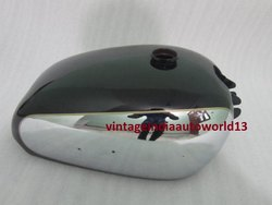 New Bsa Golden Flash A10 Plunger Model Black Painted Chrome Fuel Petrol Tank