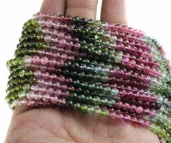 Multi Tourmaline Round Smooth Gemstone Beads