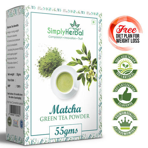 Simply Herbal Matcha Green Tea Powder, Packaging Type: Packet
