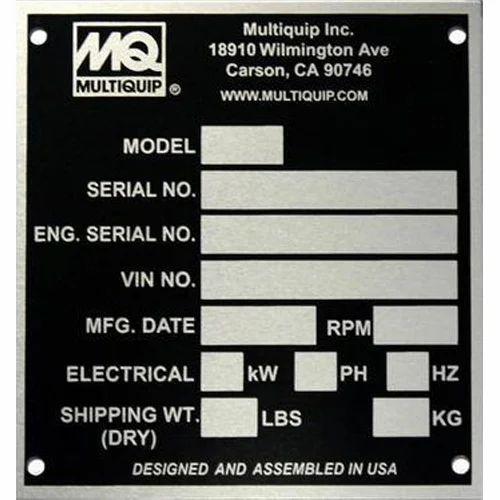 Anodized Aluminium Name Plate, Anodised Aluminium Nameplates ...