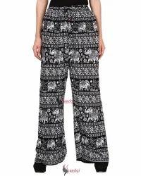 Saadgi Hand Block Print Pure Rayon Plazzo Pants