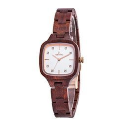 Young Brown Ladies Wooden Watches