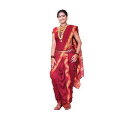 Manini''s Cotton Pre Stitched Nauvari Saree, 9 mtrs