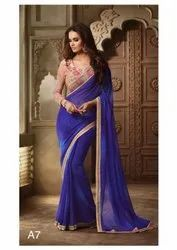 Casual Wear Printed Saree, Packaging Type: Plastic Bag, 5.5 m (separate blouse piece)