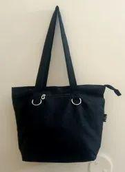 Cotton Plain Recycle Canvas Tote Fashion Handbag