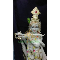 White Marble Krishna Moorti