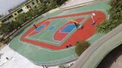 Synpave Acrylic Basketball Court, Size/Area: 6542sqft