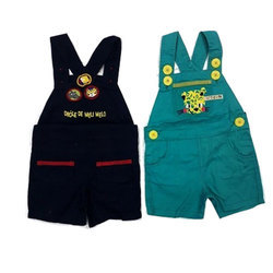 Black, Green Casual Wear Kids Cotton Dungaree, Packaging Type: Packet