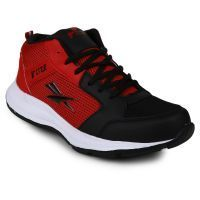 Fitze Mens Black & Red Sport Shoes