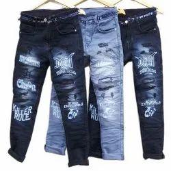 Plain Regular Fit Boys Party Wear Denim Jeans, Waist Size: 28 - 38