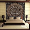 Gold Ombre Mandala Tapestry