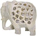 Soapstone Elephant Carved Figurine