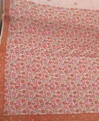 Beige Kashmiri Embroidery Needle Work Saree