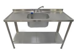 Silver NCT Steel Single Sink Unit