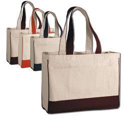 Canvas Tesco Style Bag With Piping