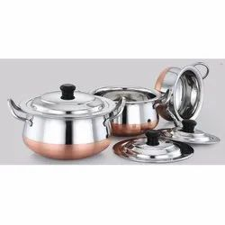 Copper Bottom Venna Chetty Pot Set