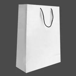 White Paper Bag, For Shopping, Capacity: 5kg