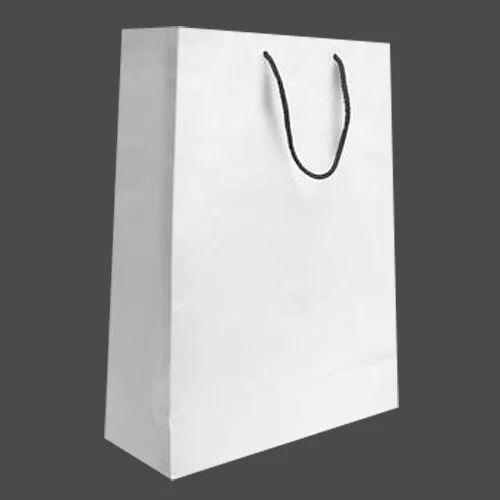 40e98f79eef White Plain And Plain Paper Bag