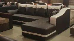 Wood 7 Seater L Corner Sofa