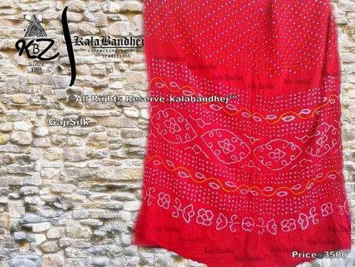 f3445701b8 Bridal Wear Bandhani Pure Gaji Silk Saree, Rs 4000 /piece | ID ...