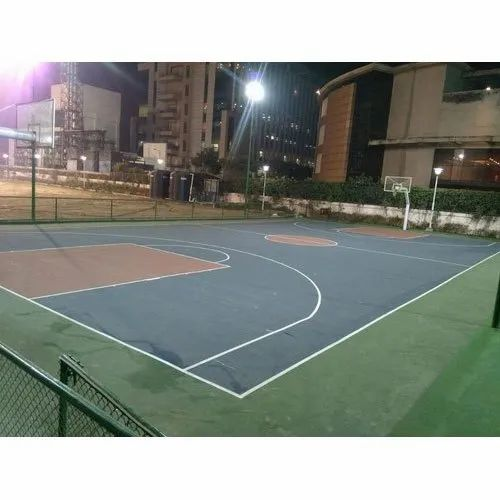 Synthetic Outdoor Basketball Court Flooring Service