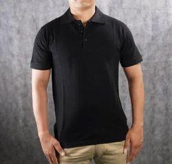Blank Black Collar T-Shirt Plain
