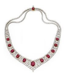 Diamond And Ruby Jewelry Sets