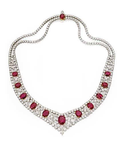 Diamond And Ruby Jewelry Sets Diamond Jewelry Set Heere Ke