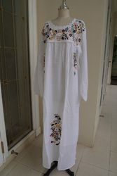 Mexican Embroidery Dress Long
